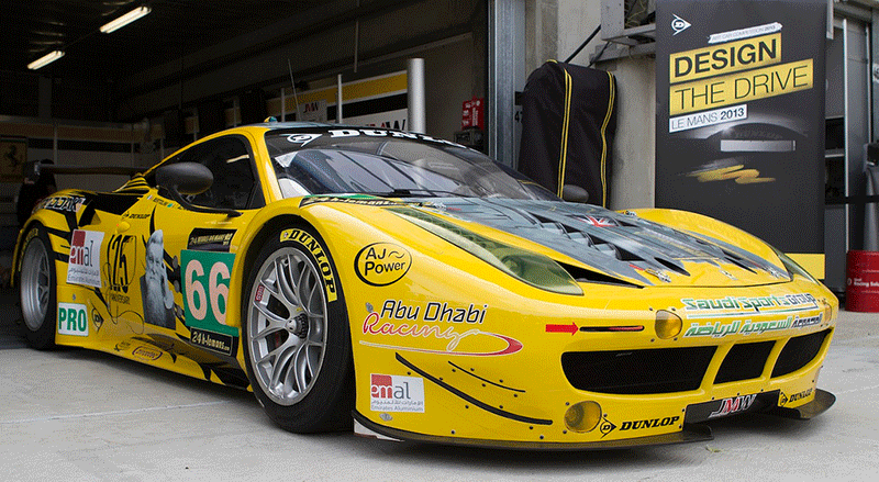 AJ Power Sponsored Ferrari 458.  2013 Season.