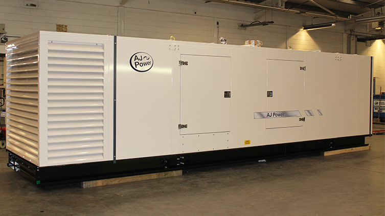 AJ1100 MTU powered canopied generating set