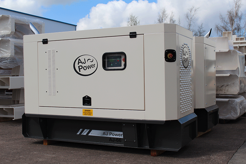 AJ66 canopied generating set.