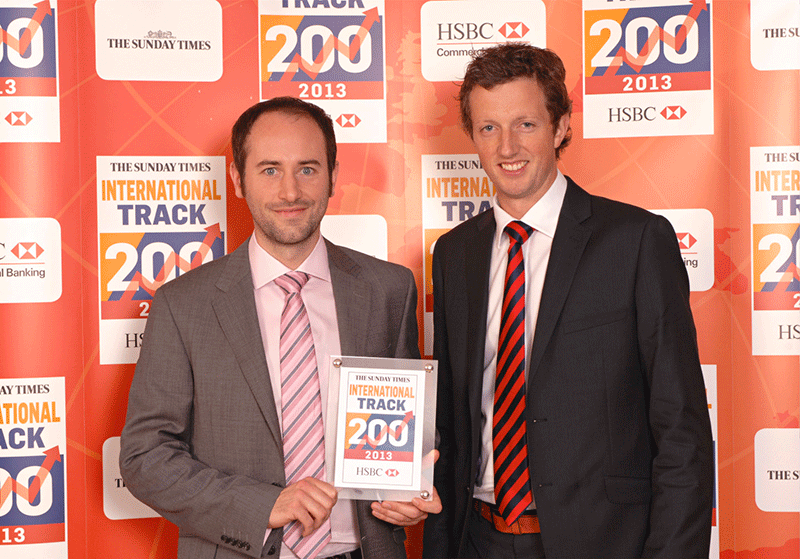 International Fast Track Award Winners 2013