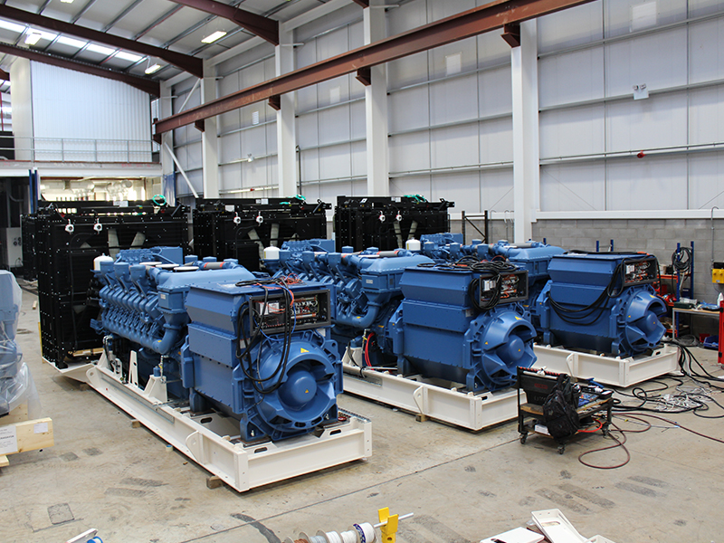 MTU generating sets in build