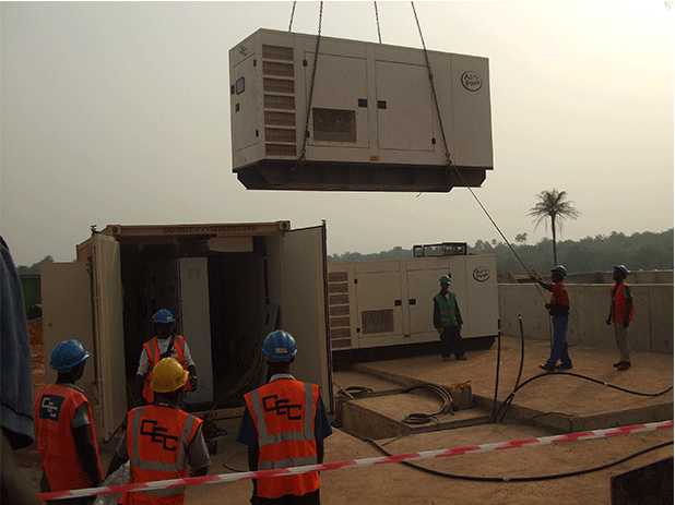 Installation of the 4 x AJ275 AGCO Powered generating sets.