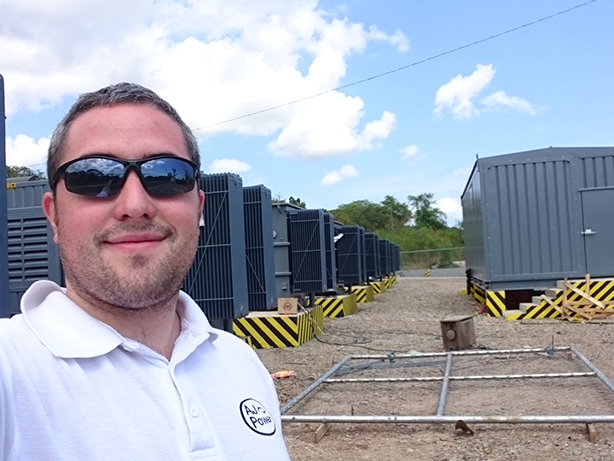 Electrical & Electronic Engineer Patrick Cunningham pictured on-site